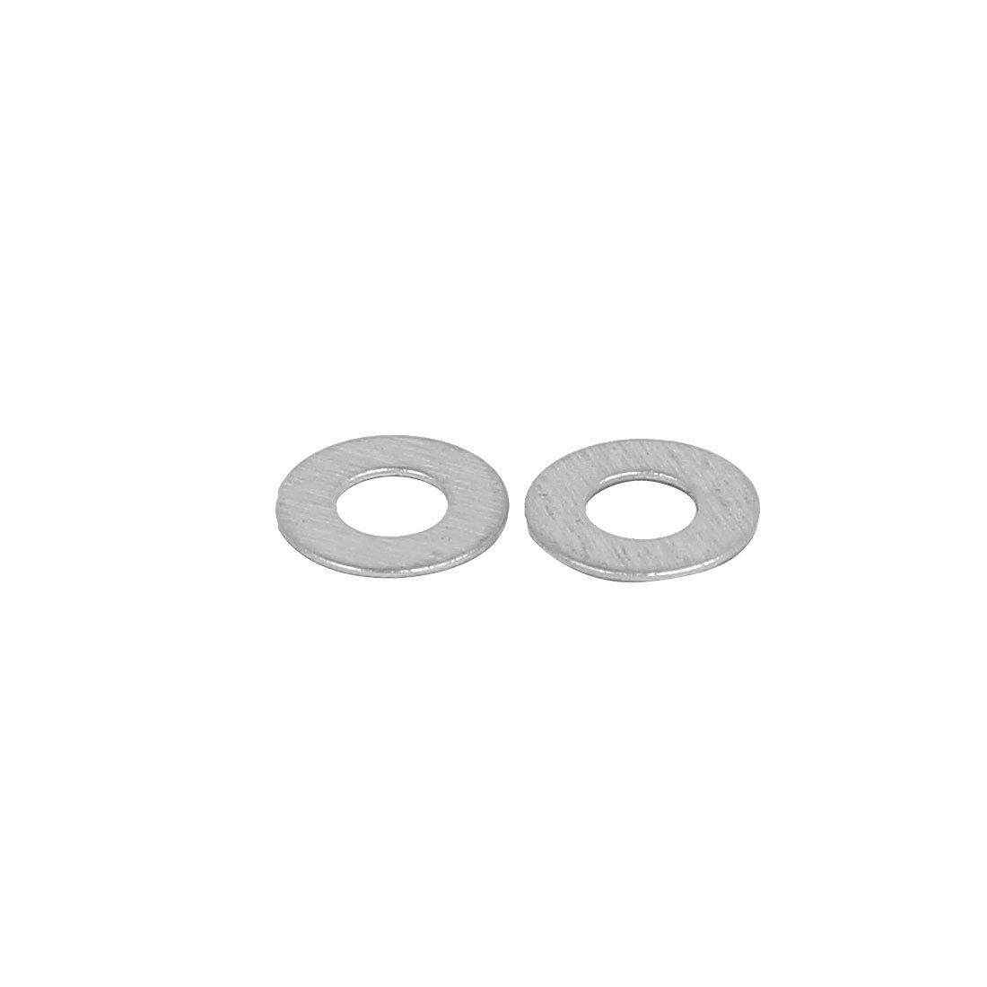 sourcingmap/® 100Stk M2 304 Edelstahl Flatte Unterlegscheibe Dichtung Abstandhhalter Silber DE de
