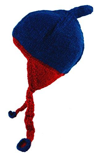 Blau Mützen Bekleidung Ohrenklappen Damen Wollmütze Size SHOP Alternative One mit Herren Size Wolle GURU qOIPwxYY