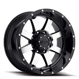 20X12 6-135 & 6-5.5 Gear Alloy 726M Big Block Gloss Black/Machined Wheels