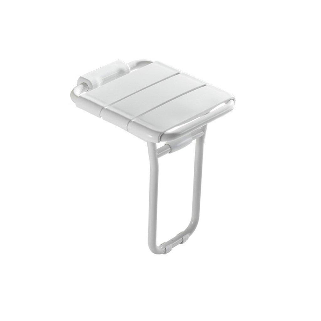 バスルーム折りたたみスツールウォールチェアシートコリドールバスルームシャワーバススツールウォールスツールシャワーウォールチェア B07DFDPC42