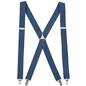 Suspenders for Women USA Manufactured Elastic X-back Adjustable Straight Clip on – Sizes 46″ and 54″