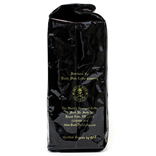 Valhalla Java Whole Bean Coffee by Death Wish Coffee Company, Fair Trade and USDA Certified Organic - 12 Ounce Bag