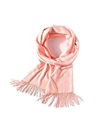 Mordarli Women and men's Pure Color Soft Cashmere Scarf Shawls Wool Wraps Stole