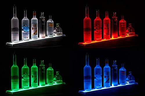 LED-Liquor-Shelf-and-Bottle-Display-4-ft-length-Programmable-Shelving-Includes-Wireless-Remote-and-Power-Supply-COMFORTABLY-HOLDS-10-12-BOTTLES