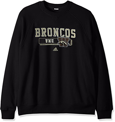 (NCAA Western Michigan Broncos Men's PHYS Ed Class Vault Fleece Crew Sweat Shirt, Large, Black)