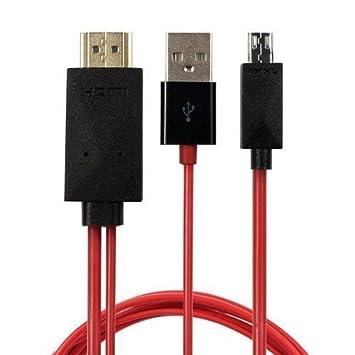 Cable adaptador de MHL (Micro USB) de 11 pines a HDMI (HDTV): Amazon.es: Electrónica