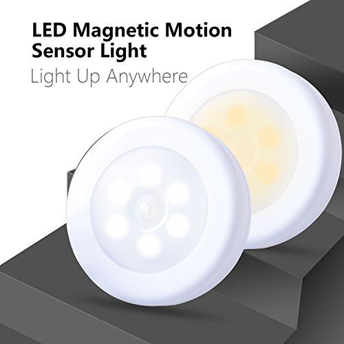 Motion Sensor Light, Stick Lights Chenglnn Cordless Battery-Powered LED Night Light, Safe Lights,Smart Body Motion Sensor Led (Warm White -3 Packs)