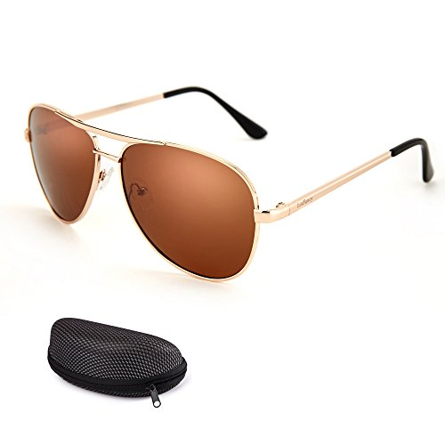 LotFancy Aviator Polarized Sunglasses Glasses