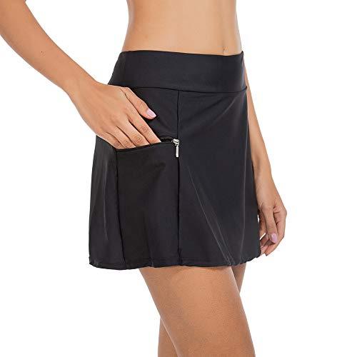 ZEALOTPOWER Swim Bottoms for Women Swim Skirt Bikini Tankini Bottom with Side Pocket