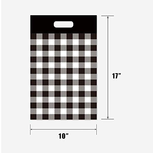 Poly Mailers 10x13 Shipping Bags 100 Pack Black Buffalo Plaid Mailing Envelopes with Self Seal Adhesive Waterproof and Tear-Proof Packaging Bags