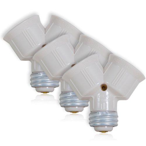 Maxxima Light Bulb Socket Splitter For LED, CFL and Standard Bulbs (Pack of 3)