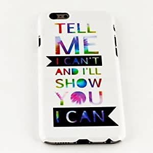 DDLFashion Punk Colorful Words Pattern TPU Soft Cover for iPhone 6