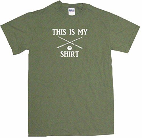 This is My Crossed Billiard Sticks & 8 Ball Shirt Men's Tee Shirt 2XL-Olive