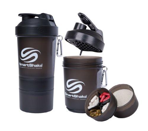 SmartShake Water Bottle, 20 oz, Original Gun Smoke…