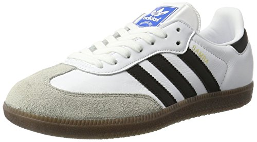 adidas Men's Samba OG, Footwear White/CORE Black/Clear Granite, 7 M US