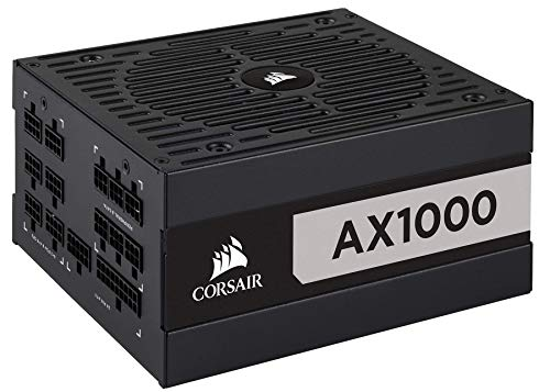 Corsair AX Series, AX1000, 1000 Watt, 80+ Titanium Certified, Fully Modular Power Supply