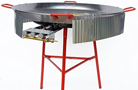 Flames VLC Burner - Falda Cortavientos para paelleras (80 cm ...
