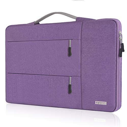 Egiant 15.6 Inch Laptop Handbag Briefcase with Shockproof Bubble Compatible F555LA X551, Aspire, Inspiron, Pavilion Chromebook, Water Repellent Multifunctional Notebook Sleeve Bag,Purple