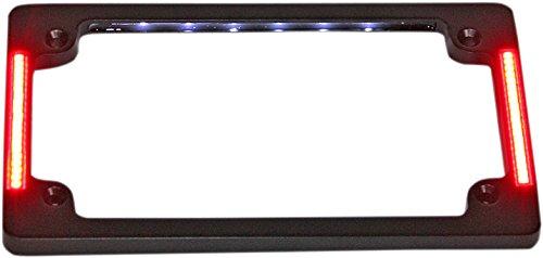Custom Dynamics TF07-B License Plate Frame (Black Tri-Horizontal with Flush-Mount LEDs and LED Plate Illumination)
