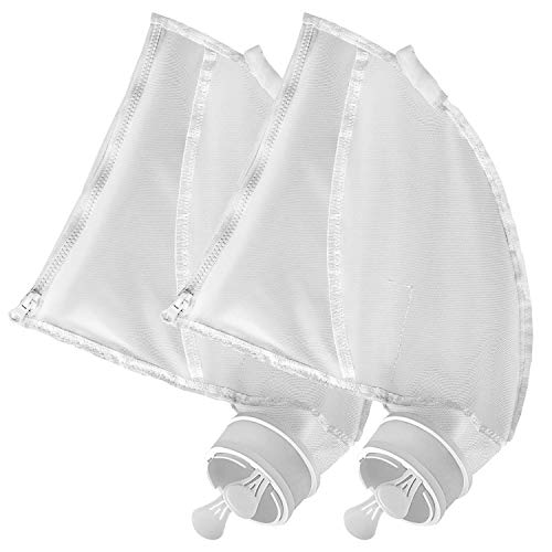 JamBer Nylon Mesh Pool Cleaner Bags,Bag Zipper Replacement for Polaris 280 & 480 Pool Cleaner All Purpose Filter Bag for 280 Polaris Replacement Bags,Pool Cleaner Replacement Part K13, K16, 2 Pack
