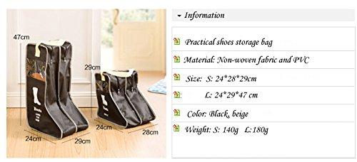 ホームオーガナイザー靴ストレージバッグ大旅行バッグロングブーツストレージバッグk0228 L ブラック B0755NYZFY ブラック Large