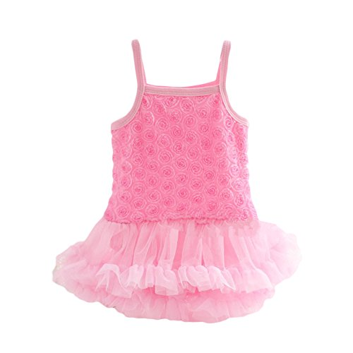 YOHA Baby Girls Roce Lace Multi-Layer Tulle Skirt Pinafore Jumper Romper Dress - Beautiful Lace Baby Skirt