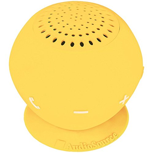 AUDIOSOURCE SP2YEL Sound pOp 2(TM) Water-Resistant Bluetooth(R) Speaker (Yellow) Consumer electronics