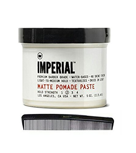 Imperial Barber Products Matte Pomade 4 oz with BraidZ Comb (Imperial Barber Gel compare prices)