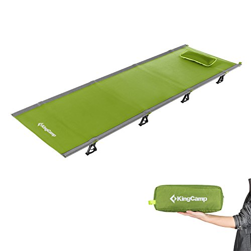 Kingcamp Ultralight Compact Folding Camping Cot Bed, 4.4 Pounds (Green) by KingCamp