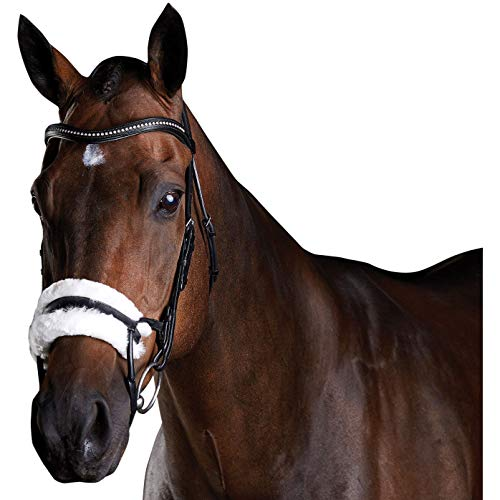 (Weatherbeeta, Collegiate, Comfitec Sheepskin, Bridle, Black, Warmblood )