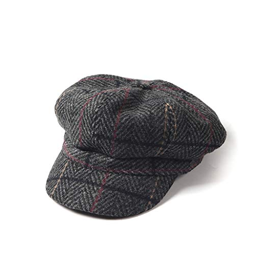 NJ Sombrero- Otoño e Invierno. Sombrero a Cuadros japonés británico. Versión  Coreana de 2d5a03163e6