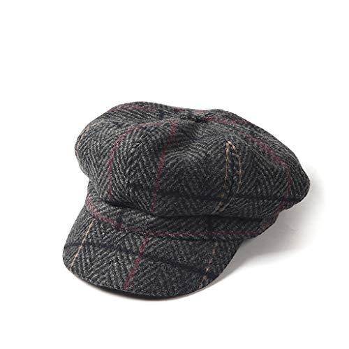NJ Sombrero- Otoño e Invierno. Sombrero a Cuadros japonés británico.  Versión Coreana de 5d2f5b6817e