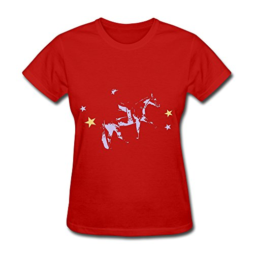 Women's Tshirts Westernriding Horse Pleasure Size L Red
