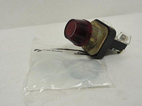 Allen Bradley 800T-Q10R Full Voltage Red Lens Pilot Light T38378 (800t Socket)