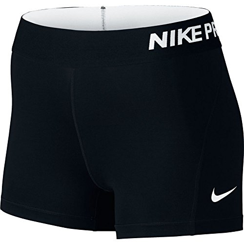 Nike Women's Pro Cool 3-Inch Compression Shorts (Black/White/X-Small)