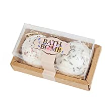 NHSUNRAY Bath Bombs Gift Set, Natural Sea Salt Bath Ball Flower Soften & Restore Skin for Relaxing & Luxurious Baths Valentine's Day Gift 4 Different Flowers Fragrance (Rose Cornflower Lavender Oregon random delivery) (2)