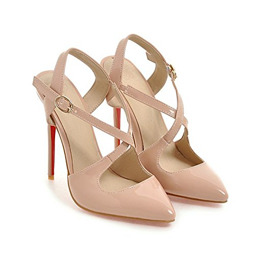 tama Primavera para de Negro Blanco Mujer Ladies Punta Beige Stiletto el 39 o Banquete Novedad Color Heel Boda Zapatos PU de Beige Estrecha y Noche la Tacones Verano Comfort tOFxqw