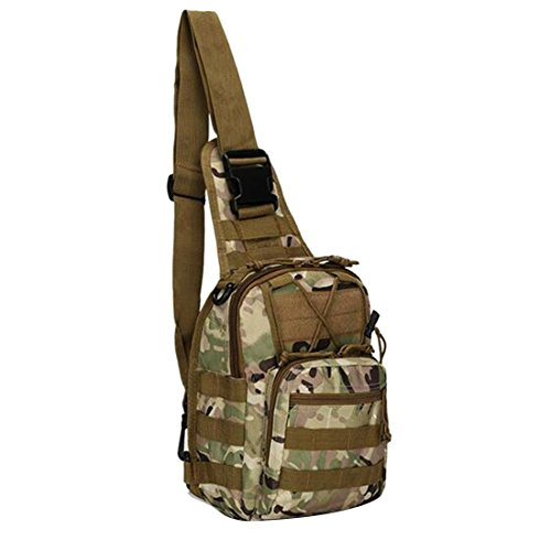 Backpack Rucksack Camp Hiking Sport black Shoulder Outdoor Bag Sling Tactical Cp Military 8OCwd