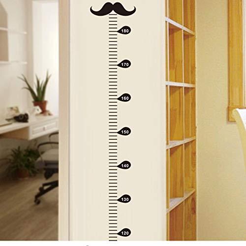 Mznm 3D Cartoon Moustache Growth Chart Wall Art