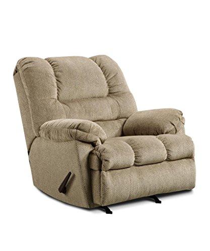Simmons Upholstery U600-19 Zig Zag Tan Rocker Recliner