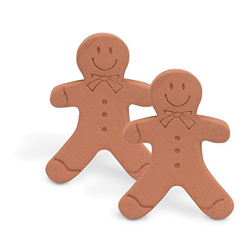 Brown Sugar Bear Original Brown Sugar Saver and Softener, Terracotta, Gingerbread Girl, Set of 2