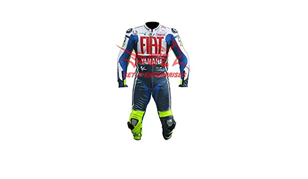 Valentino Rossi Fiat moto motocicleta Racing traje de piel 2014 ...