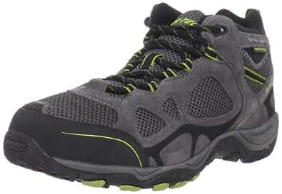 Hi-Tec Men's Total Terrain Mid Wp Hiking Shoe,Graphite/Chartreuse,8 M US