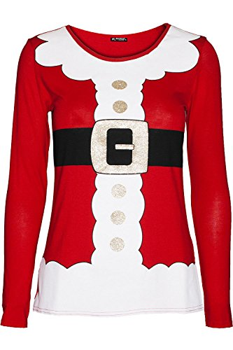 545fc5d712c Be Jealous Womens Ladies Santa Claus Father Suit Belted Costume T ...