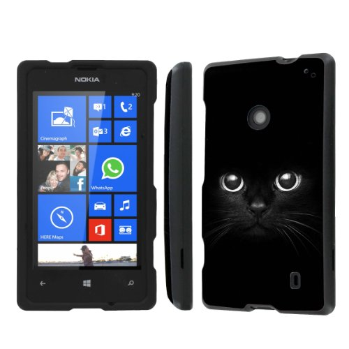 NakedShield Nokia Lumia 635 (Cute Cat Eye) Total Hard Armor Protection LifeStyle Phone Case