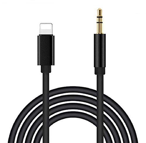 [Apple MFi Certified] Aux Cord for iPhone 11 Pro XS XR X 8 7 Plus, Lightning to 3.5 mm Headphone Jack Adapter Male Aux Cable for Car Stereo Speaker Headphone, Supports All iOS(3.3ft/1M, Black)
