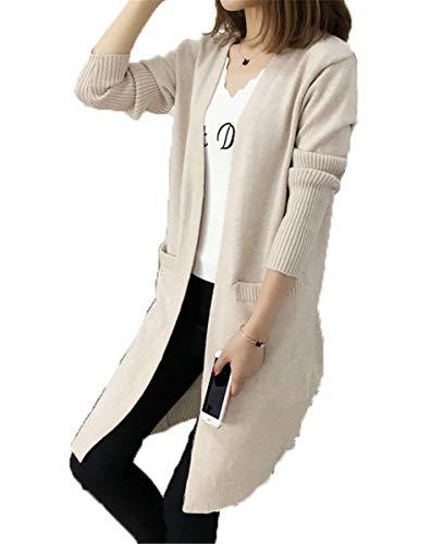 Saoye Fashion Veste en Tricot Femme Longues Automne Hiver Manches Longues Cardigan El