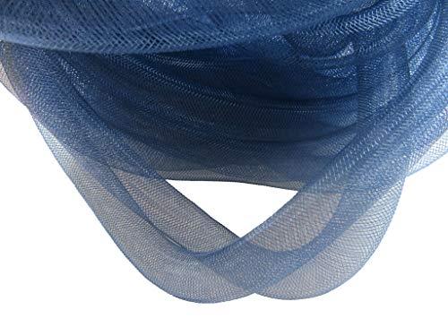 YYCRAF 10 Yards Solid Mesh Tube Deco Flex for Wreaths Cyberlox CRIN Crafts 16mm 5/8-Inch (Solid Navy)