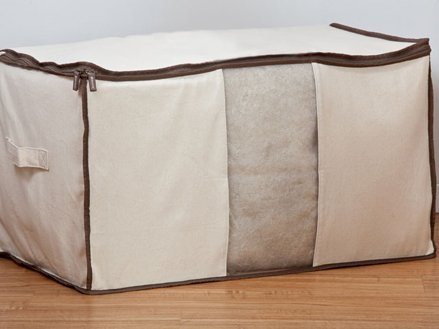 CoverMates - Canvas Comforter Storage Bag - 29L x 17W x 16H - Organix Collection - 2 YR Warranty - Year Around Protection