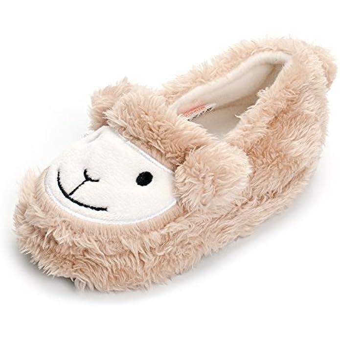 ESTAMICO Toddler Boy's Premium Soft Plush Slippers Cartoon Warm Winter House Shoes